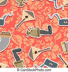 Russia traditional national ornament. Seamless vector pattern background