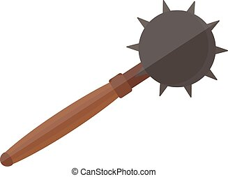 Mace vector illustration. - Old medieval iron mace isolated...