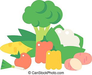 Vegetables food cellulose vector set Cabbage, peppers,...