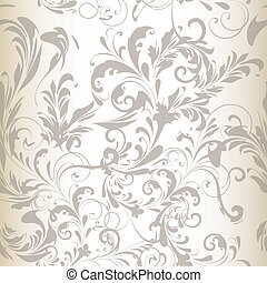 vector seamless pattern or background with swirl flourishes...