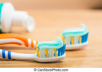 Toothbrush dental care for your healthy mouth concept