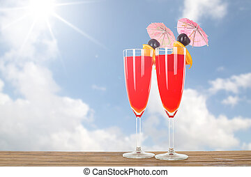 Fruit punch cocktail beverage for your summer holiday.