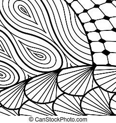 Artistically ethnic pattern doodle, zentangle tribal design...