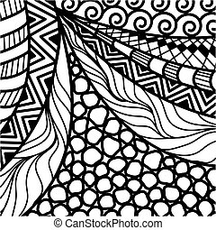 Artistically ethnic pattern. doodle, zentangle tribal design...
