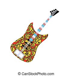 Russian national guitar Musical instrument and traditional...