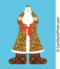 Russian Santa Claus Grandfather Frost Cloak in traditional...