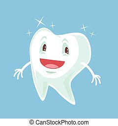 Healthy happy tooth character