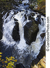 Black Linn Falls, Dunkeld, Perthshire - Looking down into...