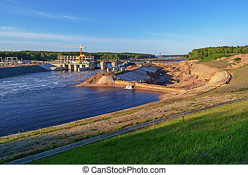 Construction of Vitebsk hydroelectric power station -...