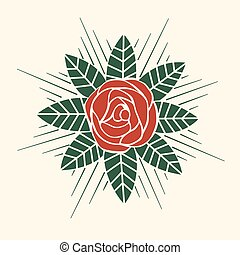 Rose vector style