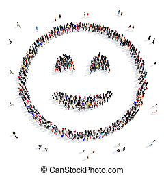 people group smiley 3d - Large and creative group of people...