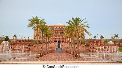 Emirates Palace - ABU DHABI, UAE - APRIL 27: Gate to the...
