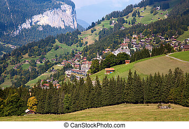 Jungfrau region - Autumn landscape in the Jungfrau region