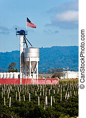 Blending Tower - A fertilizer blending tower with an...
