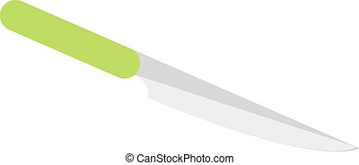 Kitchen knife cleaver flat vector - Knife for meat and...
