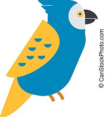 Cartoon parrot vector - Cartoon parrot wild animal parrot...