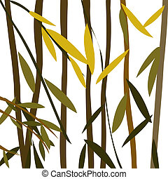 Willow leaves over a white background