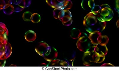 Animation of balls or bubble
