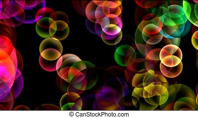 Animation of color balls