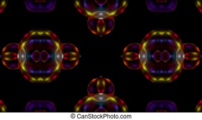 transparent glass flower pattern