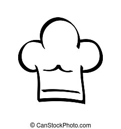Chefs hat icon Menu design vector graphic - Menu concept...