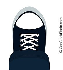 sport shoes icon Cloth concept design vector graphic - Cloth...