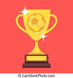 Vector football cup trophy