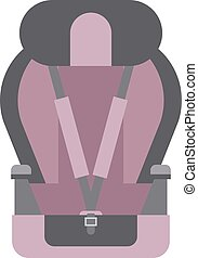 Baby seat vector illustration - Baby car seats isolated and...