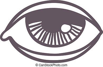 Esoteric eye symbol vector illustration - Vector esoteric...