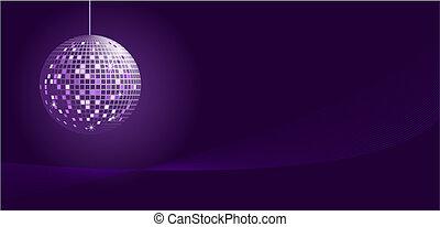 Disco ball in purple tones
