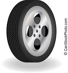 Detailed 3D Vector Tire - detailed 3D vector tire with...
