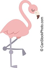 Cool pink flamingo vector illustration. - Pink flamingo and...