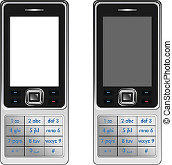 Vector Handphone Cellular Phone Isolated on White Background