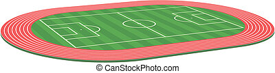 3d Football soccer field pitch
