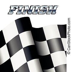 WINNER Checkered, Chequered Flags M - TRACK DAY Checkered,...