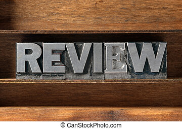 review word tray - review word made from metallic...