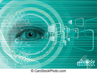 Digital Eye - Digital eye for Security design, vector Layers...