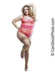 plus size model - beautiful plus size model wearing...