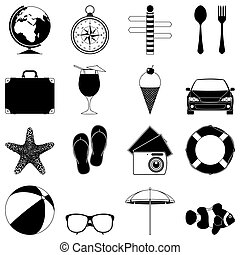 Travel and vacation icons.