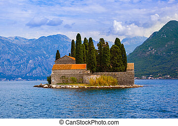 Island in Boka Kotor bay - Montenegro - nature and...