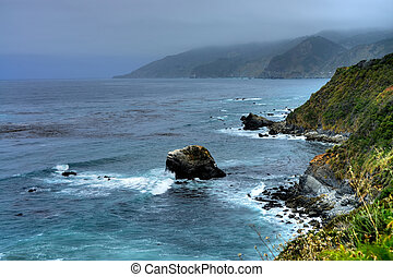 Big Sur California - Cool and foggy morning at Big Sur...