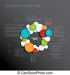 Vector Company infographic overview design template made...