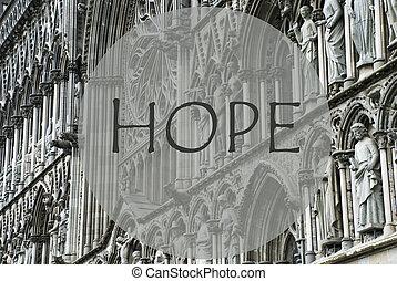 Church Of Trondheim, Text Hope - Church Of Trondheim In...