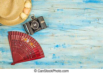 Spanish summer holidays background - Summer holidays...
