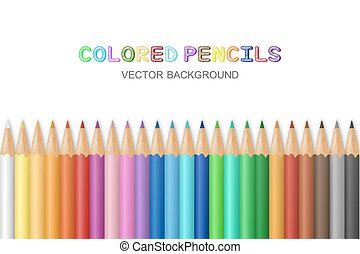 Vector colored pencils