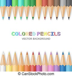 Vector colored pencils - Vector background with colored...