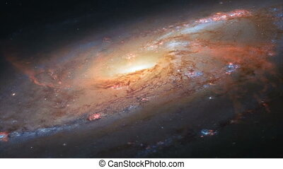 Spiral Galaxy Milky Way. Full HD Resolution: 1920x1080