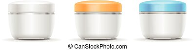 Blank Cosmetic Container for Cream, Powder or Gel. Vector