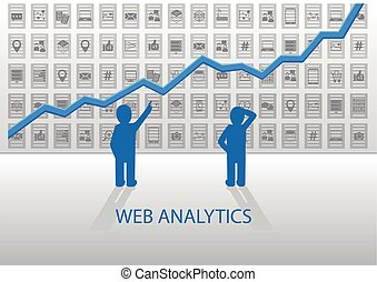 Web analytics vector illustration
