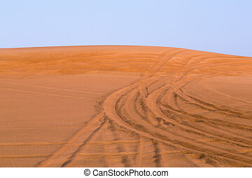 Red Dessert of Dubai - The Red sand of the Pink Rock Desert,...